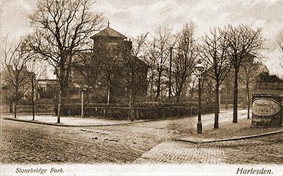 Stonebridge Park in a 1907 postcard (©Brent Archives object No.7914 )