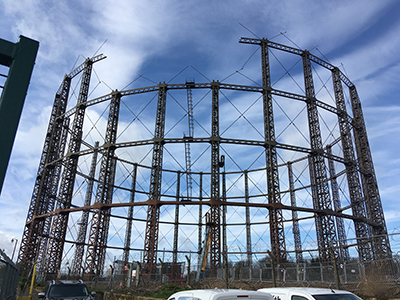 Victorian gas holders at Ladbroke Grove