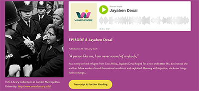 Jabeen Desai and Grunwick Strike podcast