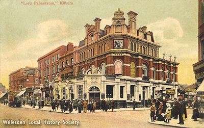 Lord Palmerston Pub, Kilburn High Road, c1910