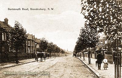 Dartmouth Road, Mapesbury, 1908