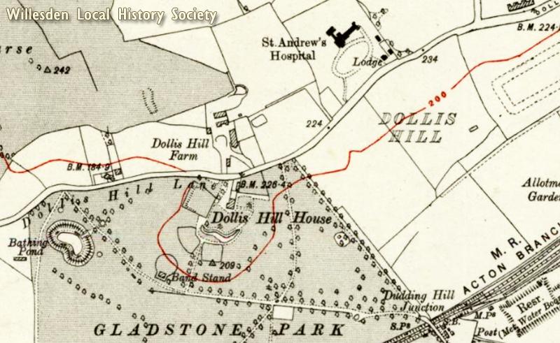 Dollis Hill Map