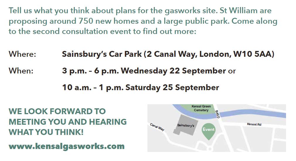 Ladbroke Grove gas works development consultation